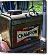 Vintage Champion Spark Plug Cleaner Acrylic Print