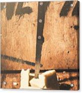 Vintage Cheese Crumble Acrylic Print