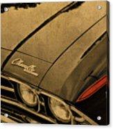 Vintage Chevrolet Chevelle Hood Acrylic Print