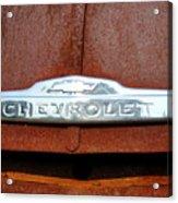 Vintage Chevy Truck Emblem Acrylic Print