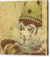 Vintage Circus Postcard Acrylic Print
