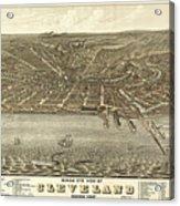 Vintage Cleveland Ohio Map Acrylic Print