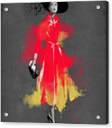 Vintage Coat Dress - By Diana Van Acrylic Print
