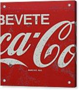 Vintage Coca Cola Sign Acrylic Print