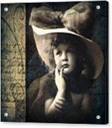 Vintage Collage 21 Acrylic Print by Angelina Cornidez