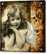 Vintage Collage 22 Acrylic Print by Angelina Cornidez