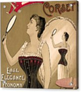 Vintage Corset Ad 1890 Acrylic Print