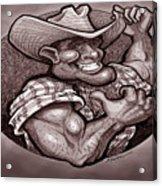 Vintage Cowboy Acrylic Print