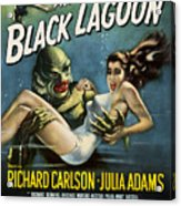 Vintage Creature From The Black Lagoon Poster Acrylic Print