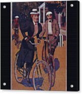 Vintage Cycle Poster March Davis Cycle 100 Dollars Acrylic Print
