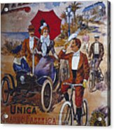 Vintage Cycle Poster Prinetti Stucchi Unica Grande Fabbrica Italiana Milano Acrylic Print