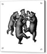 Vintage Dancing Bears Acrylic Print