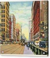 Vintage Detroit Woodward Avenue Acrylic Print