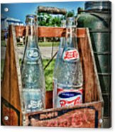 Vintage Double Dot Wooded Pepsi Carrier Acrylic Print