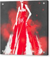 Vintage Dress Red Ball Gown - By Diana Van Acrylic Print