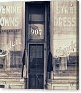 Vintage Dress Shop Acrylic Print