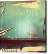 Vintage Effects Plymouth Hood Acrylic Print