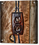 Vintage Electrical Outlet Acrylic Print