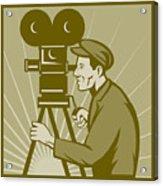 Vintage Film Camera Director Acrylic Print by Aloysius Patrimonio