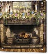 Vintage Fireplace Acrylic Print