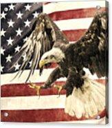 Vintage Flag With Eagle Acrylic Print