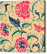 Vintage Flower Design Acrylic Print