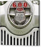 Vintage Ford 600 Nameplate Emblem Acrylic Print
