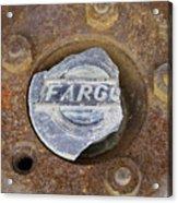 Vintage Fargo Wheel Art Acrylic Print
