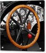 Vintage Ford Racer Dashboard Acrylic Print