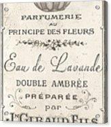 Vintage French Perfume Sign Acrylic Print