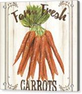 Vintage Fresh Vegetables 3 Acrylic Print