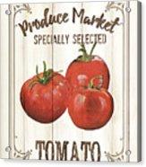 Vintage Fresh Vegetables 4 Acrylic Print
