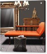 Vintage Furnitures Acrylic Print by Atiketta Sangasaeng