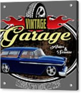 Vintage Garage With Nomad Acrylic Print