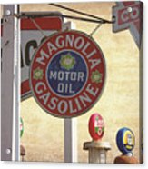 Vintage Gas Pumps And Oil Signs by Nick Gray