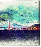 Vintage Golden Gate Acrylic Print