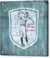 Vintage Golf Blue 1 Acrylic Print