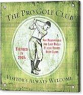 Vintage Golf Green 2 Acrylic Print