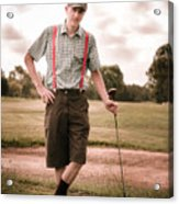 Vintage Golf Acrylic Print
