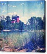 Vintage Great Lakes Lighthouse Acrylic Print