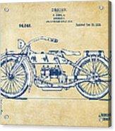 Vintage Harley-davidson Motorcycle 1919 Patent Artwork Acrylic Print