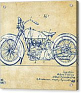 Vintage Harley-davidson Motorcycle 1928 Patent Artwork Acrylic Print by Nikki Smith