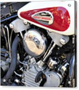 Vintage Harley V Twin Acrylic Print by David Lee Thompson