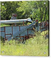 Vintage Harvester In A Field Acrylic Print