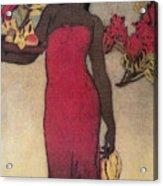 Vintage Hawaiian Woman Acrylic Print