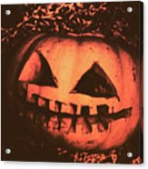 Vintage Horror Pumpkin Head Acrylic Print