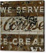 Vintage Ice Cream Mural  Acrylic Print
