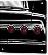 Vintage Impala Black And White Acrylic Print