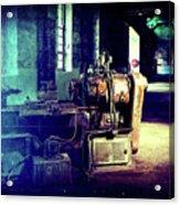 Vintage Industrial Blueprint Acrylic Print