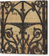 Vintage Iron Scroll Gate 1 Acrylic Print by Debbie DeWitt